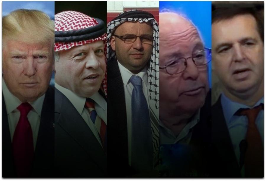 Trump Abdullah Zahran Belman Toameh montage